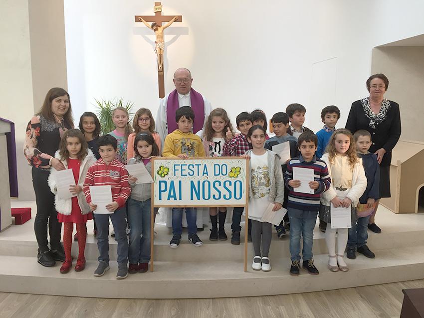 2.º ano da catequese fez Festa do Pai-Nosso