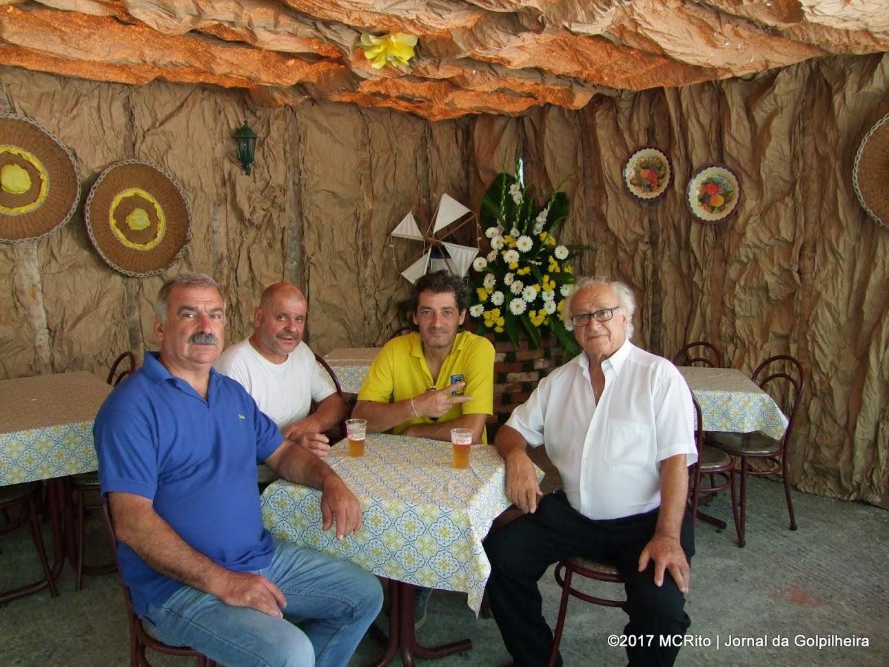"""Sérgio Silva, dosVeteranos """"Pretos e Brancos"""",visitou a Golpilheira"""