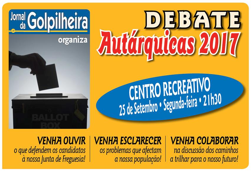 """Jornal da Golpilheira organiza debate """"Autárquicas 2017"""" no dia 25 de setembro"""