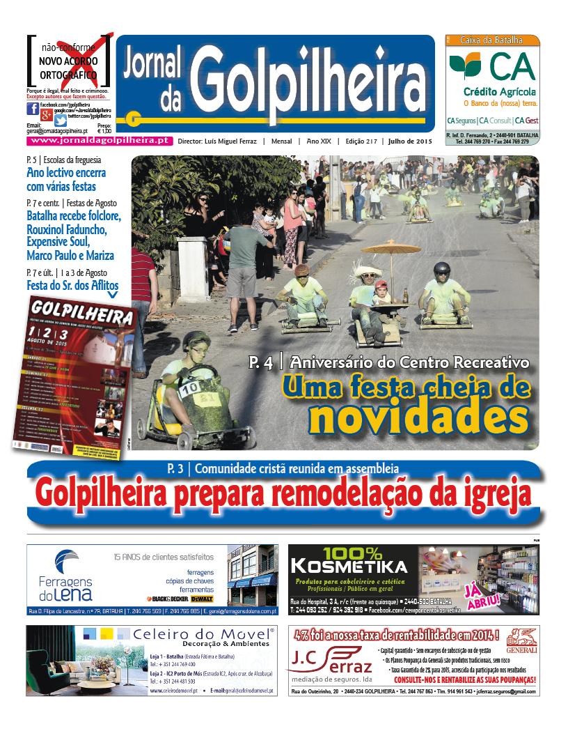 1.ª página da edição de Julho